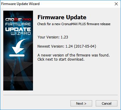CronusMAX PLUS v1 24 Firmware Update - CronusMAX PLUS - Supports