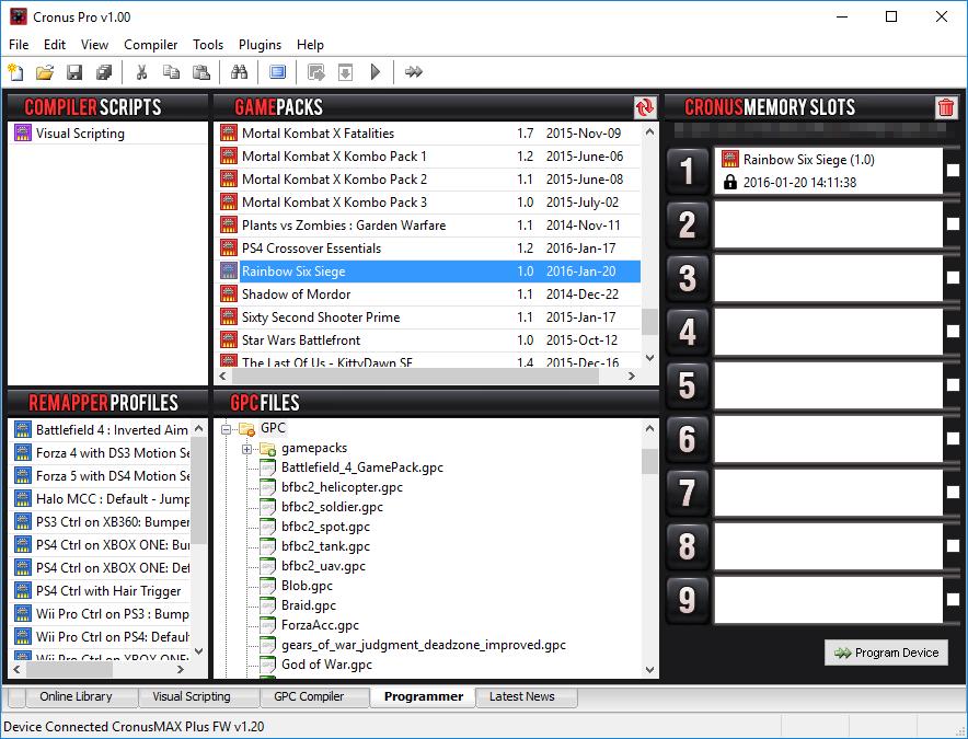 Rainbow Six Siege GamePack Released - Exclusive to CronusMAX PLUS