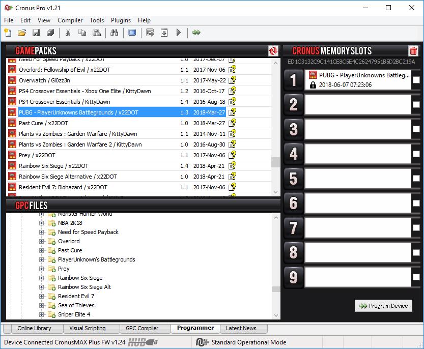 PlayerUnknown's Battlegrounds GamePack v1 3 Update - CronusMAX PLUS